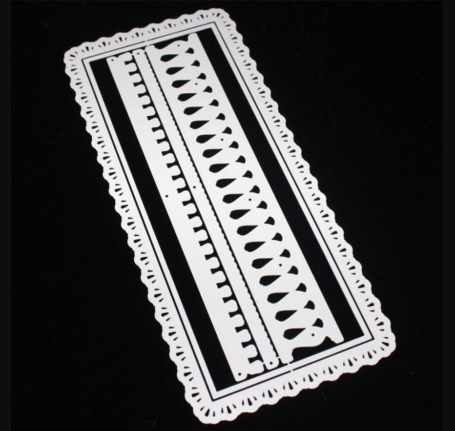 Nicole - Slimline Bannister Lace Border Metal Cutting Dies