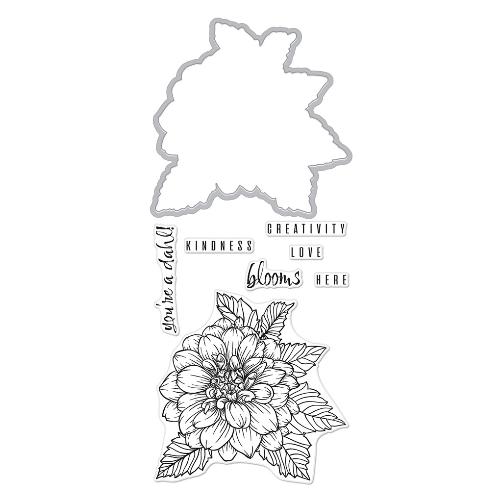Hero Arts - Hero Florals Dahlia Stamp & Cut (DC2343)