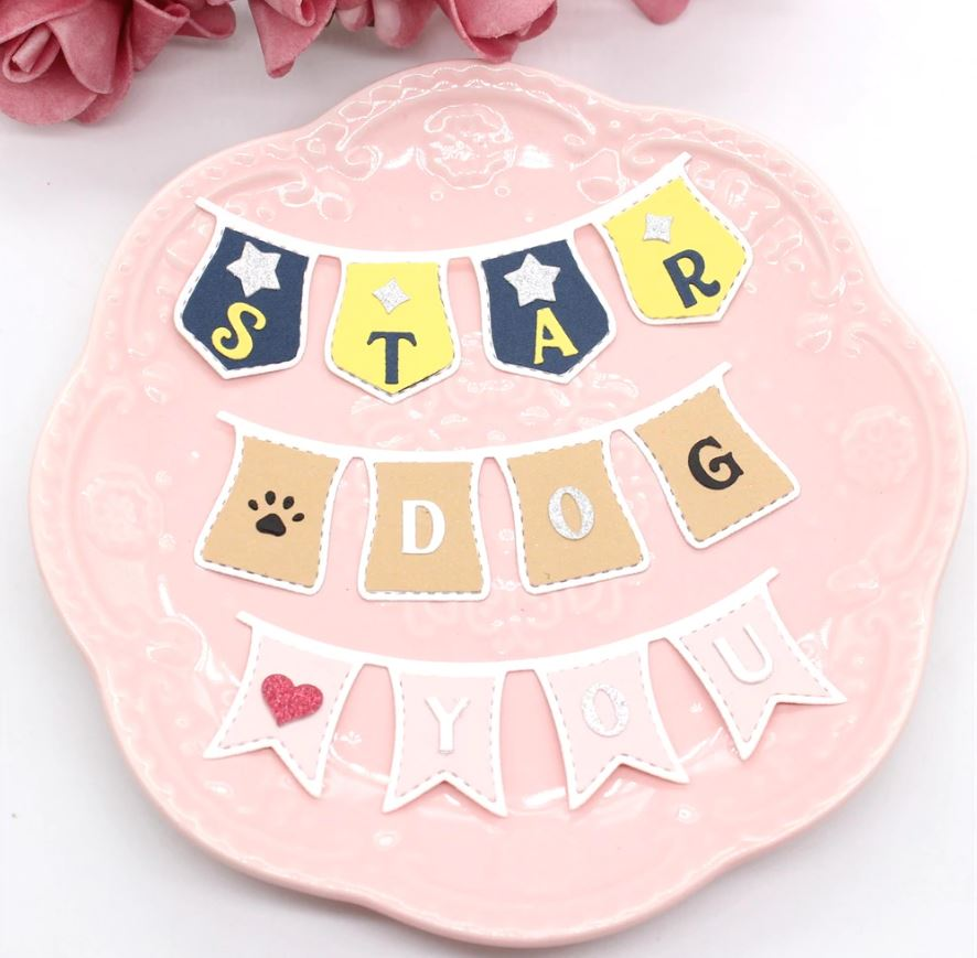 Nicole - Cute Bunting Banners Set Metal Cutting Dies
