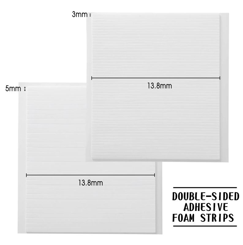 3Pcs/set Double-Sided Adhesive Foam Strips (2 valg)