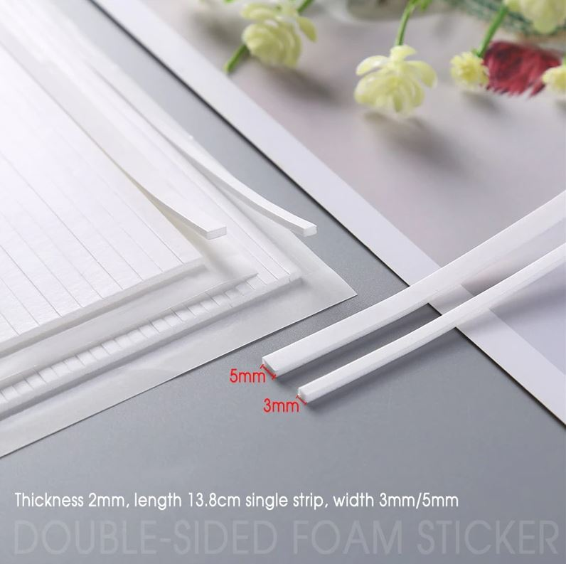 3Pcs/set Double-Sided Adhesive Foam Strips (2 valg)