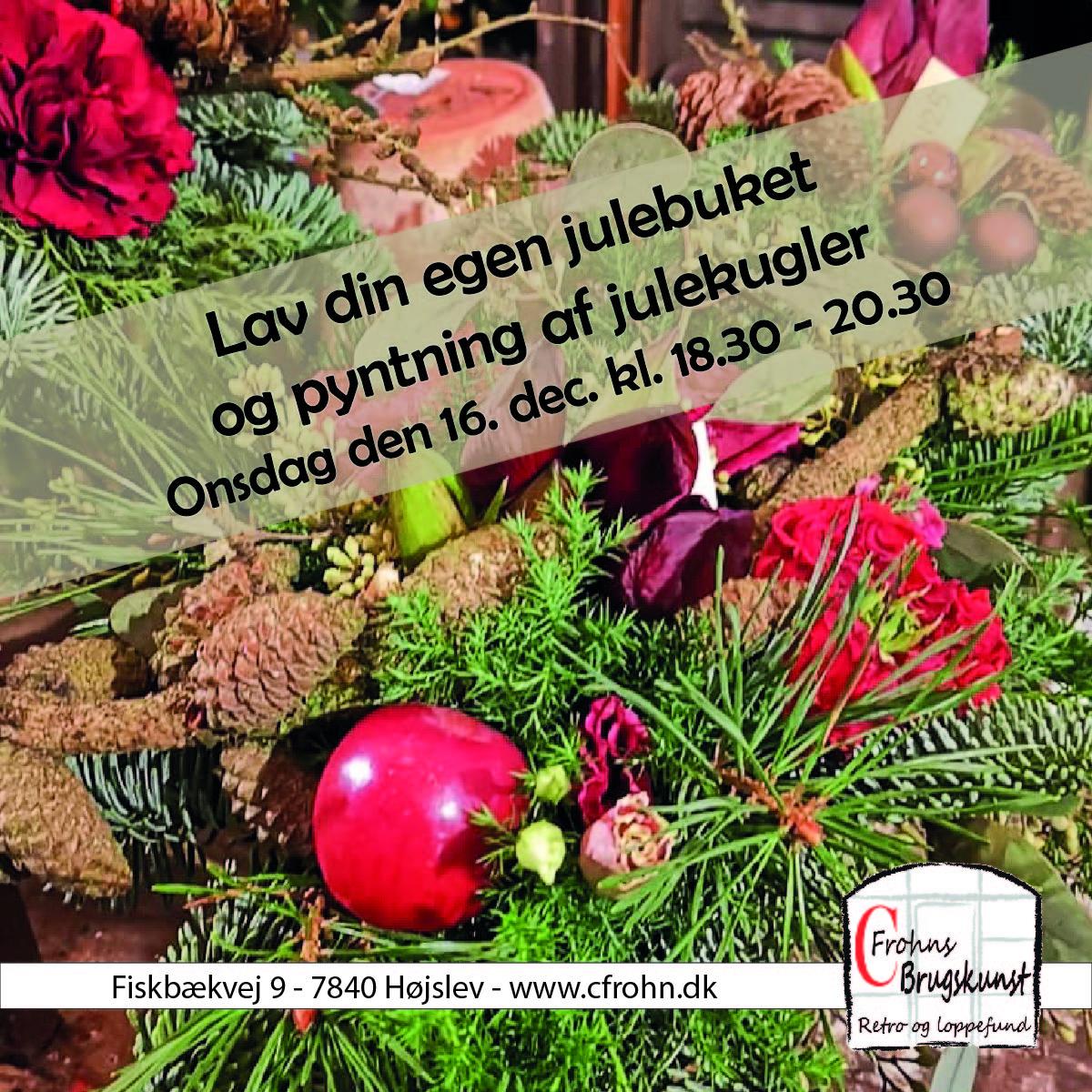 Kursus i julebuket og oppyntning af julekugle, 16. dec