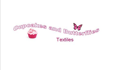 Cupcakes and Butterflies Textiles