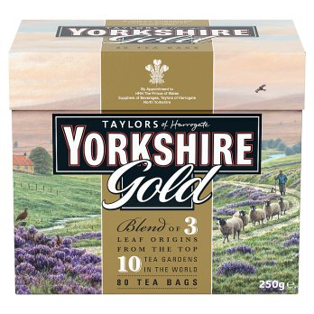 TAYLORS YORKSHIRE GOLD TEA BAGS 80s 250g