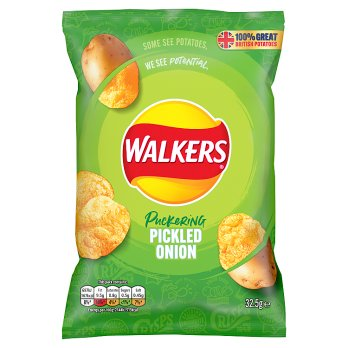 WALKERS PICKLED ONION 32.5G