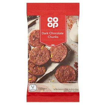 CO-OP DARK CHOCOLATE CHUNKS 100G