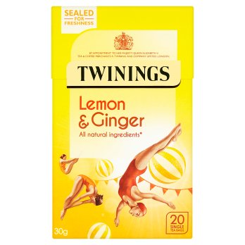 TWININGS INFUSIONS LEMON & GINGER 20S