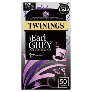 TWININGS EARL GREY 50 TEA BAGS 150G