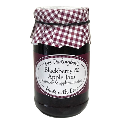 MRS DARLINGTONS BLACKBERRY AND APPLE JAM 340G
