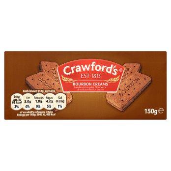 CRAWFORD BOURBON CREAMS 150G