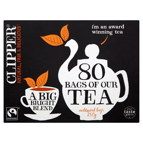 CLIPPER FAIRTRADE 80 TEABAGS 250g