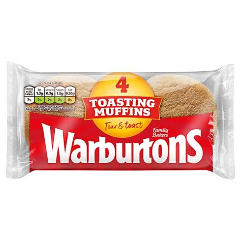 WARBURTONS MUFFINS 4 PACK 284G