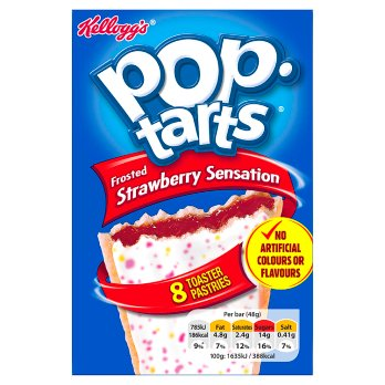 KELLOGGS POP TARTS STRAWBERY 8X48G