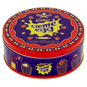 CADBURY CREME EGG TIN 409G (contains 8 Creme Eggs and 1 bag of Mini Creme Eggs)