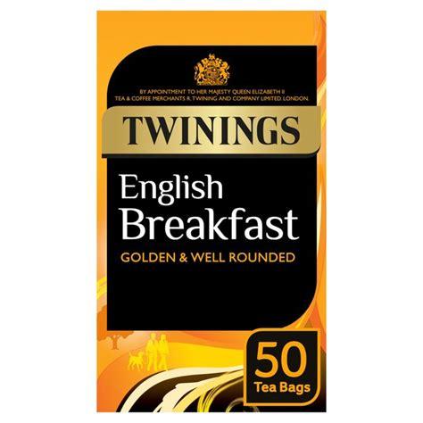 TWININGS ENGLISH BREAKFAST 50 TEA BAGS 150G