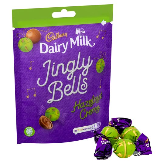 CADBURY JINGLY BELLS HAZLENUT CREAM 82G WAS 34Kr