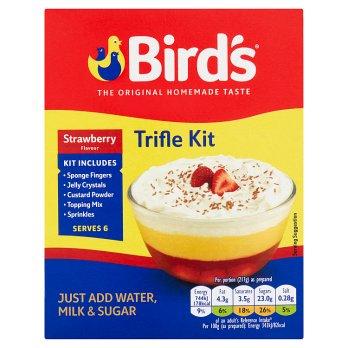 BIRDS STRAWBERRY FLAVOUR TRIFLE KIT 141G