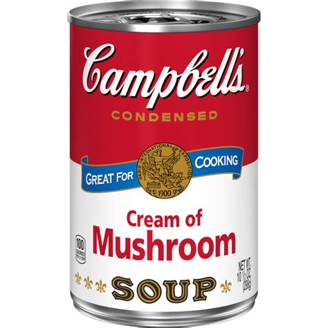 CAMPBELLS SOUP CREAM OF MUSHROOM 295G