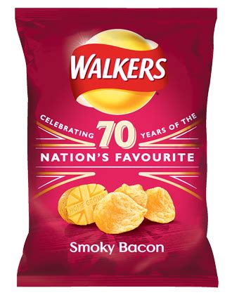 WALKERS SMOKY BACON CRISPS 32.5G