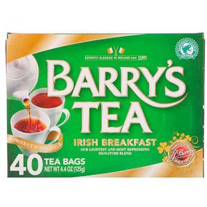 BARRYS 40 IRISH BREAKFAST TEABAGS 125G
