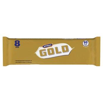 MCVITIES GOLD BARS 8 PACK 142G