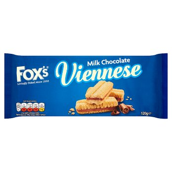 FOXS VIENNESE CHOCOLATE BISCUITS 120G