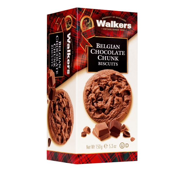 WALKERS CHOCOLATE CHUNK BISCUITS 150G