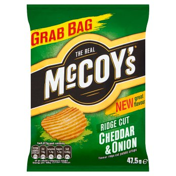 WHOLESALE ONLY - 36 x MCCOYS CHEDDAR & ONION 47.5G