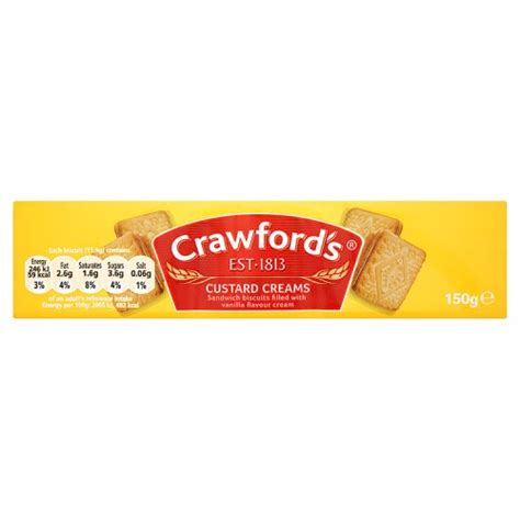 CRAWFORD CUSTARD CREAMS 150G