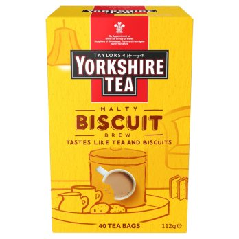 TAYLORS YORKSHIRE BISCUIT BREW 40 TEA BAGS