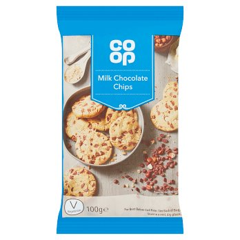 CO-OP MILK CHOCOLATE CHIPS 100G