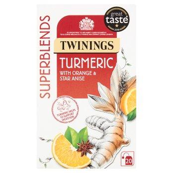 TWININGS SUPERBLENDS TURMERIC 20 TEA BAGS 50G