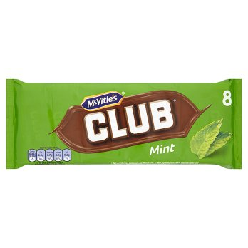 MCVITIES CLUB CHOC MINT 8PK 176G