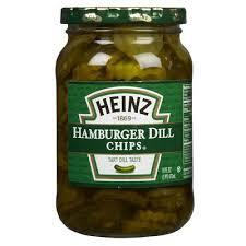 HEINZ HAMBURGER DILL CHIPS 453G