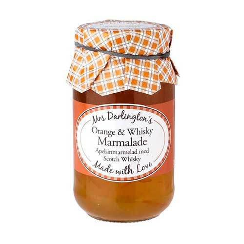 MRS DARLINGTONS ORANGE AND WHISKY MARMALADE 340G