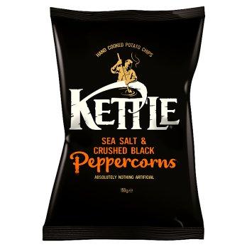 KETTLE CHIPS SALT & BLACK PEPPER 150G