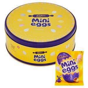 CADBURY MINI EGGS TIN 319G (contains 10 small bags of Mini Eggs)