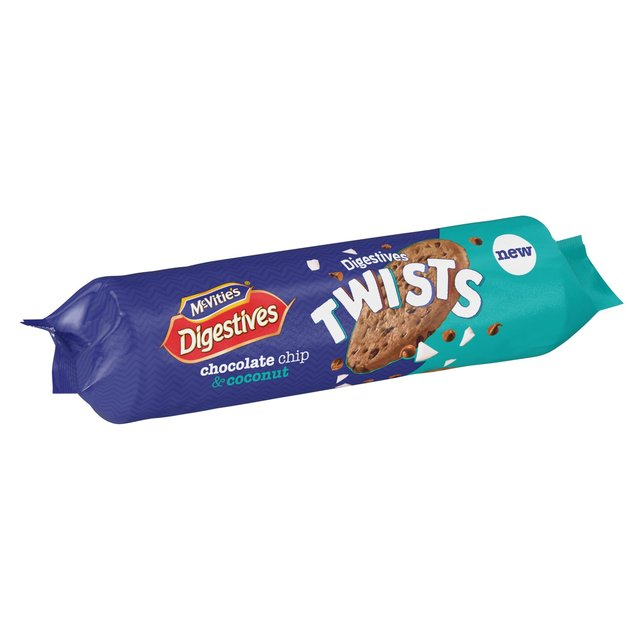 MCVITIES DIGESTIVE TWISTS, CHOCOLATE CHIP & COCONUT, 276G