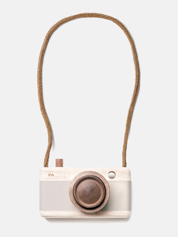 FANNY & ALEXANDER Wooden camera - Greige -