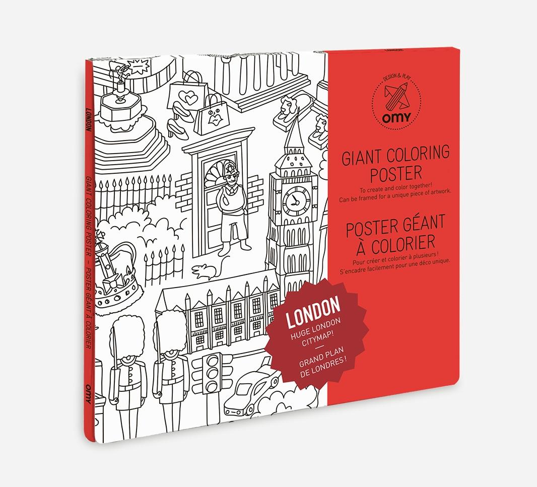 OMY poster til fargelegging - London -