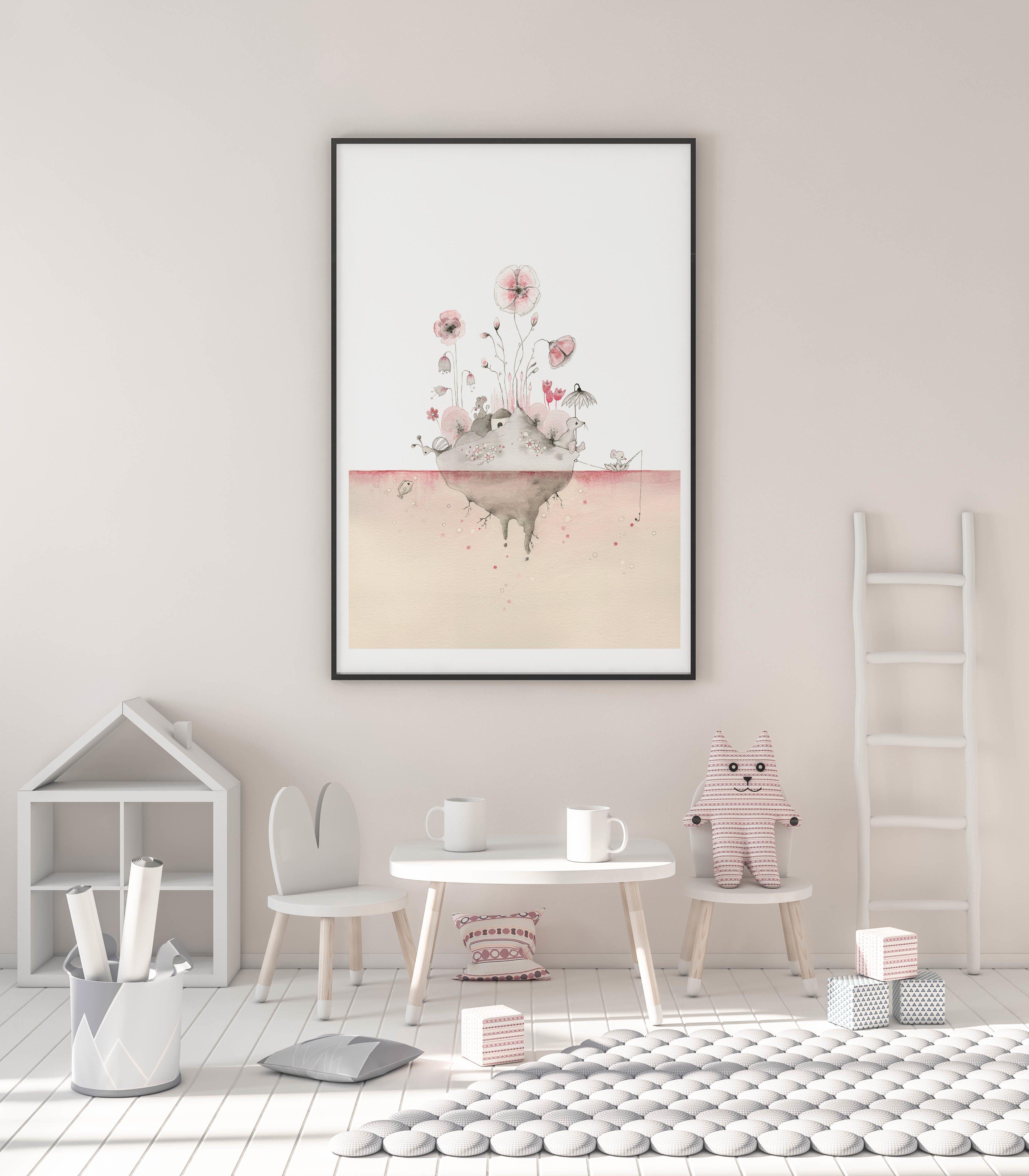 -illulilly- Pink Eyeland  A4, A3 & 50x70