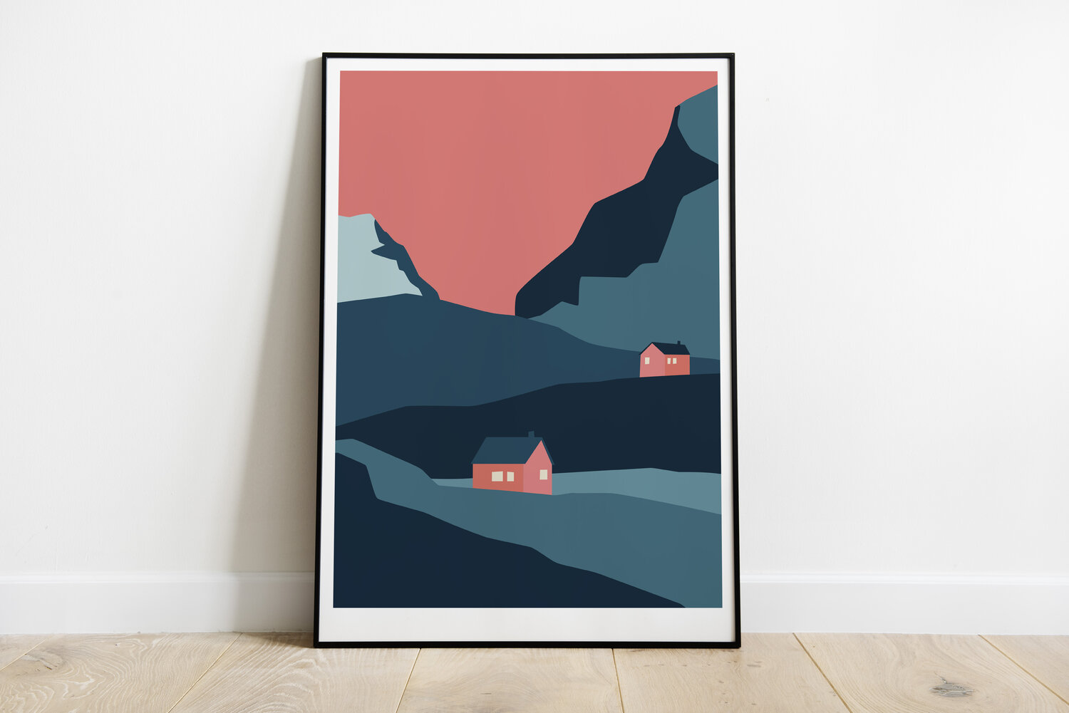 A STORM print - Winter Day blue -