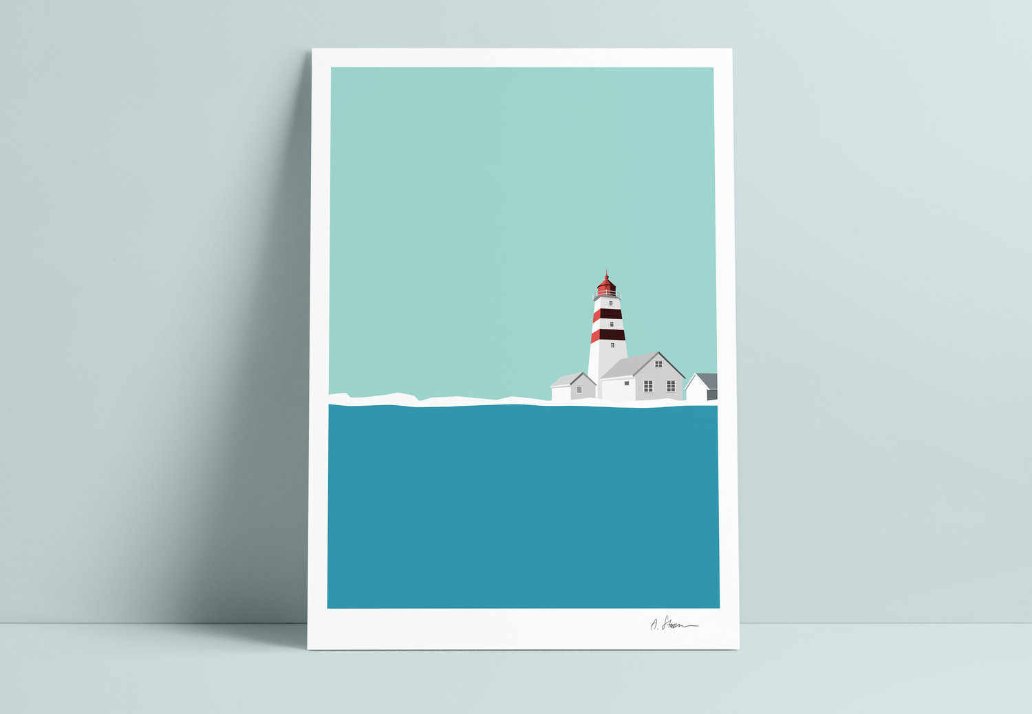 A STORM print - Alnes lighthouse -