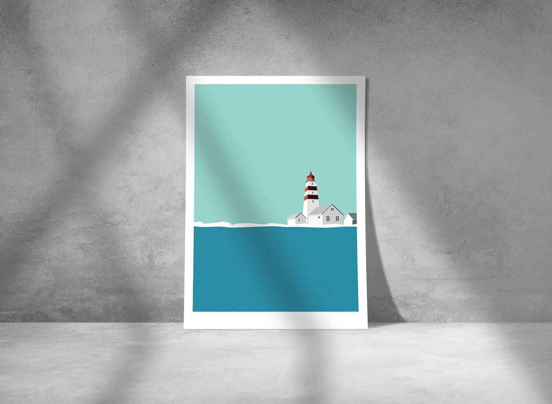 A STORM print - Alnes lighthouse -