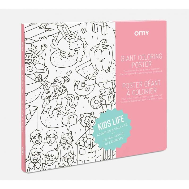 OMY Poster til fargelegging - Kids life -