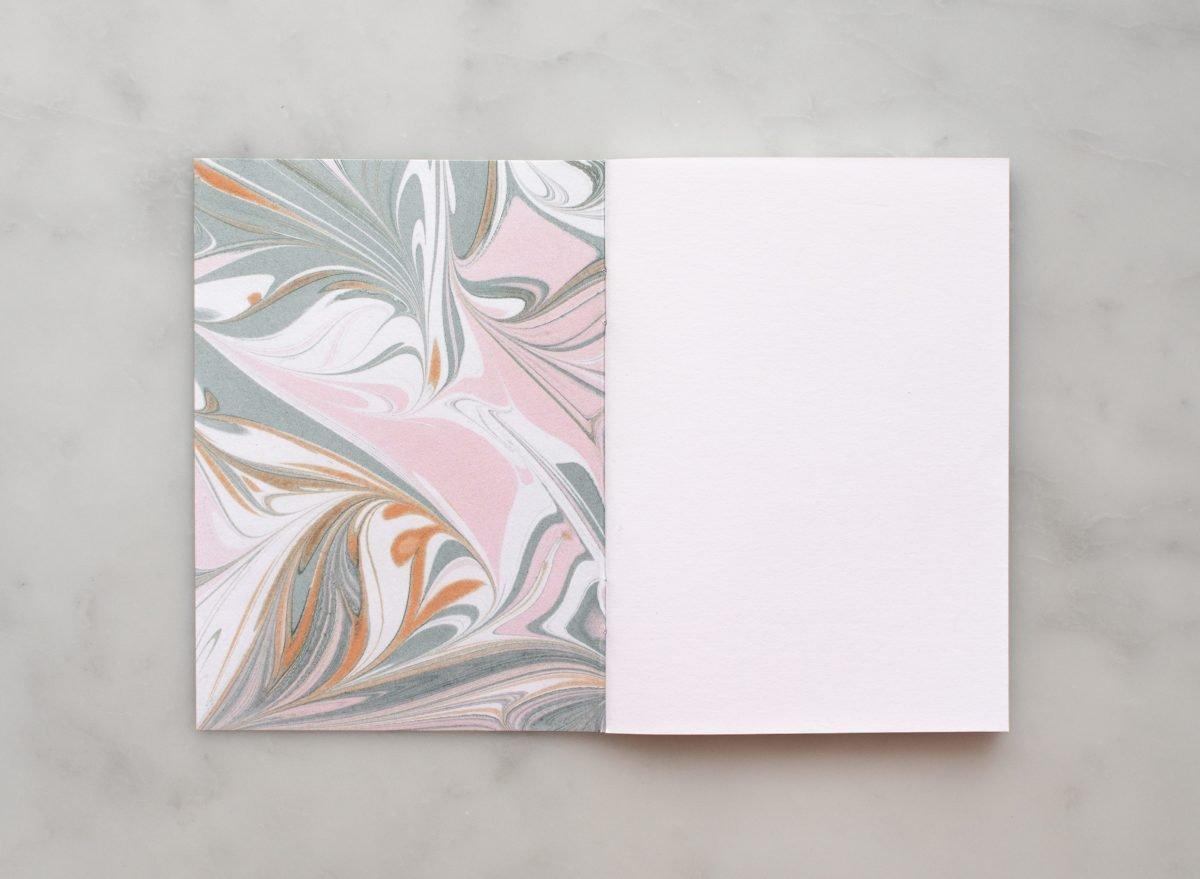 Golden dust blank notatbok A6