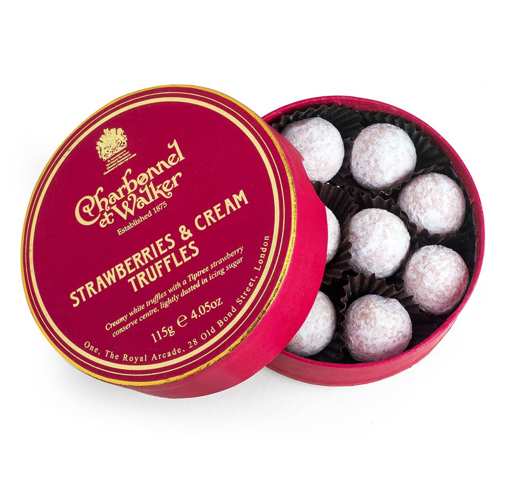 Charbonnel et Walker - Strawberries and cream truffles -