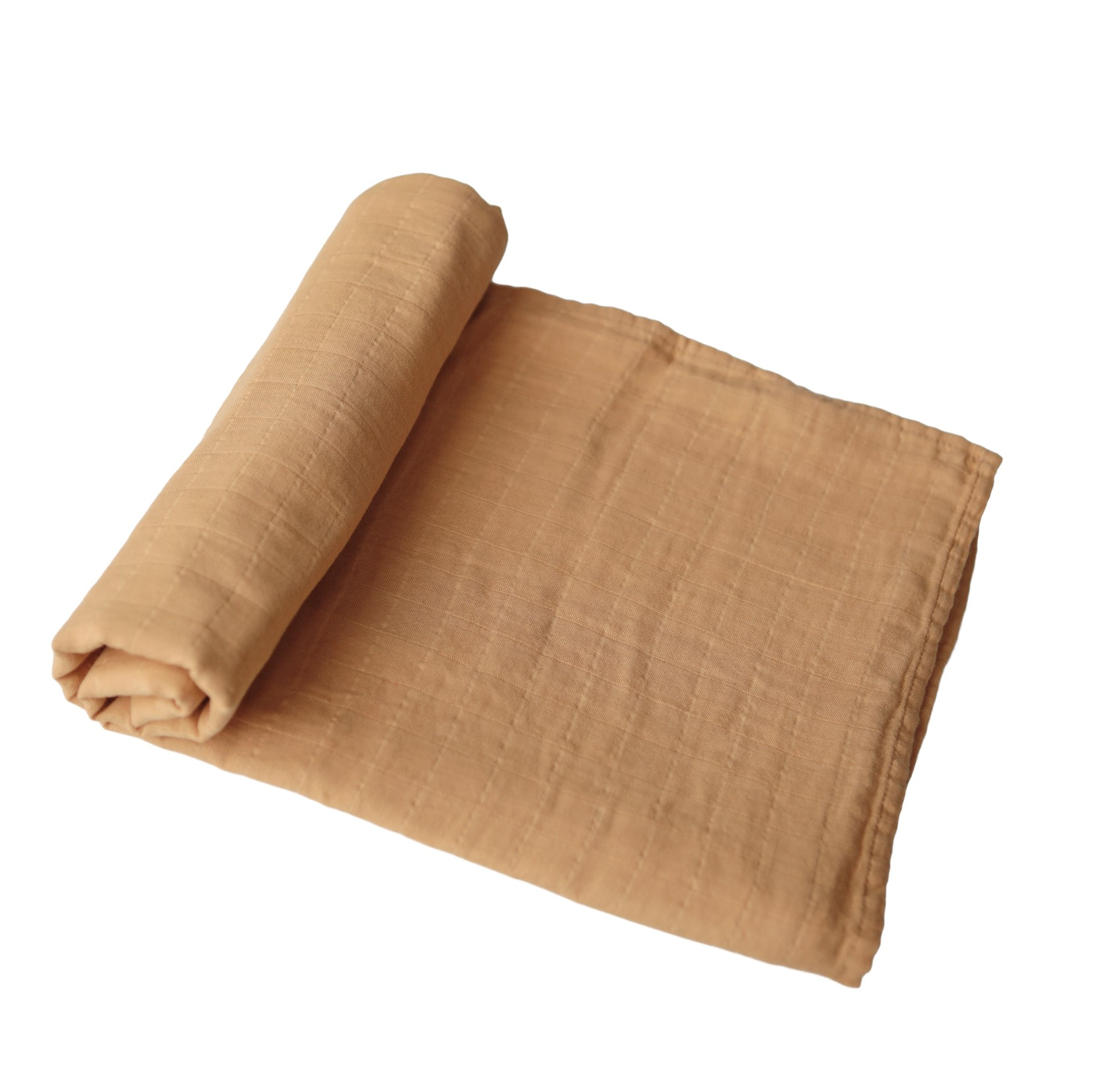 MUSHIE Muslin swaddle teppe - Fall yellow -