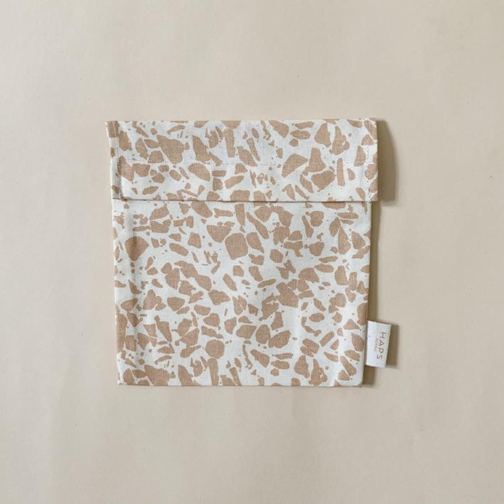 Haps Sandwich bag Matpakkepose -Terrazzo Rose-