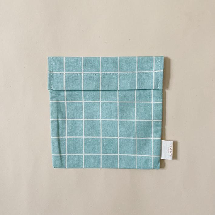 Haps Sandwich bag Matpakkepose -Check Sky-